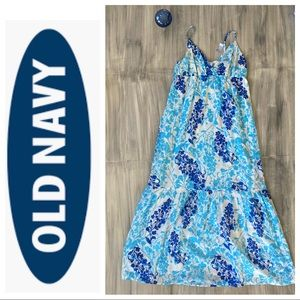 NWT Old navy glimmering floral maxi sundress